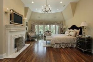Furnish bedroom with fireplace
